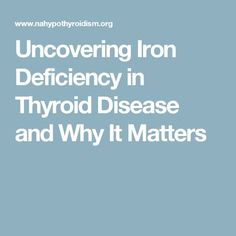 Hypothyroidism Diet - Uncovering Iron Deficiency in Thyroid Disease and Why It Matters - Get the Entire Hypothyroidism Revolution System Today Hashimotos Disease Diet, Hashimoto Thyroid Disease, Thyroid Symptoms, Hypothyroidism Diet, Insomnia Causes, Iron Deficiency, Weight Loss Plans, Lose Belly, Natural Health