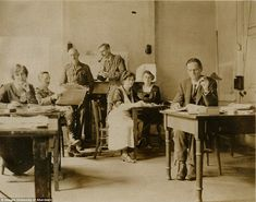 The ACTUAL ROOM 40!!!! This incredible image taken in June 1919 shows World War One codebreakers at work in Room 40