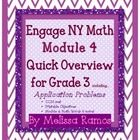 Engage NY Module 4 for 3rd grade ~ Application Problems and Teaching Objectives outlined (plus more!)