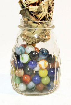 The marbles are cool, but the jar is even cooler.