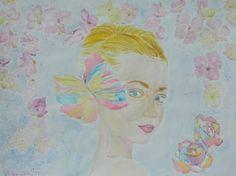 "Saatchi Art Artist Theodora Papoulidoy; Painting, ""Portrait of blonde woman""…"