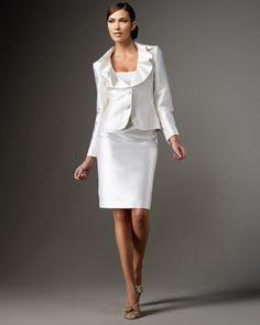 white suit dress