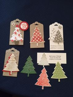 Arlene's Christmas Tree tags