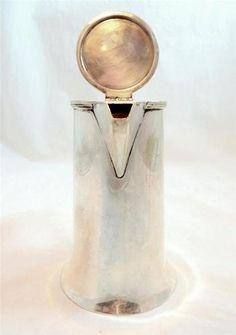 Sweet, elegant silver coffee pot Arts & Crafts Movement Silver Plated Hot Water/Coffee/Pot J C Vickery London -