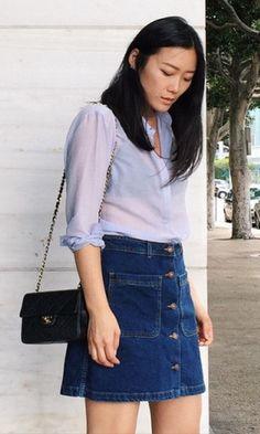 Look Jeans: Saia de Botões