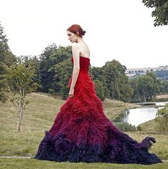Haute Couture Ombre gown for the Mine Magazine winter issue Ombre Gown, Demelza Poldark, Eleanor Tomlinson, Fantasy Gowns, Chic Dress, Couture Dresses, Playing Dress Up, Dress To Impress, Wedding Gowns