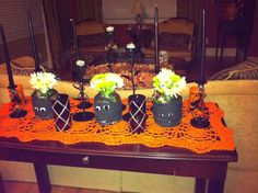 Cute vases for our Halloween Party