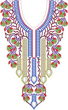 Embroiderystars,com Dozens of Neckline designs and Embroidery Neck Designs, Embroidery Flowers Pattern, Embroidery Dress, Flower Patterns, Machine Embroidery, Neckline Designs, Kurti Neck Designs, Blouse Designs, Design Floral