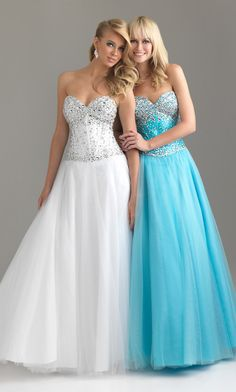 Beaded Strapless Gown by Night Moves 6439;;the blue one will be my prom dress !!
