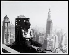 Lewis W. Hine (American, 1874-1940) 'Smoke Break Among Girders' 1930-31 From the series 'Empire State' Silver gelatin print