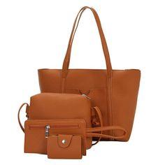 b92cf158cbe9 Yogodlns 2018 New FashionWomen Handbags Sets Ladies PU Leather Shoulder  Bags Purse Female Crossbody Messenger Bags