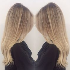"""Pretty buttery blonde with lighter highlights is perfect for summer. """"Thank you @tauni901 for always keeping my hair fresh, dreamy and creamy blonde #901girl #901academy @901too"""""""