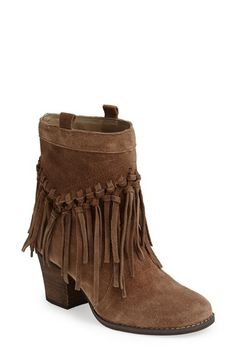 9e2c1d627cb88 Free shipping and returns on Sbicca  Sound  Fringe Suede Bootie (Women) at