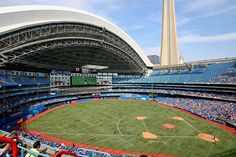 Rogers Centre, home of the Toronto Blue Jays.  Toronto, Ontario.
