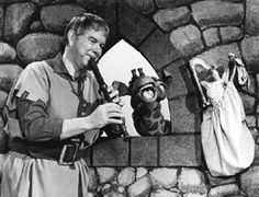 Bob Homme as the Friendly Giant   with Jerome and Rusty. Aired on CBC Television from September 1958 through to March 1985.