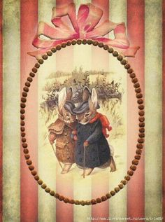 "Illustration of Beatrix Potter's ""Appley Dapply's Nursery Rhymes,"" 1917 Beatrix Potter, Vintage Cards, Vintage Images, Peter Rabbit Nursery, Motifs Animal, Rabbit Art, Bunny Art, Vintage Easter, Easter Crafts"