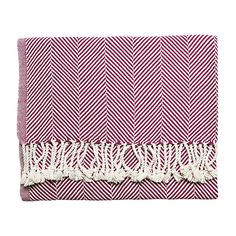 Plum Herringbone Throw | Serena & Lily