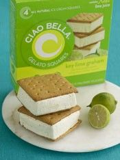 key lime gelato with graham cracker crust i'm not kidding these are amazing i went out of my way to pin it