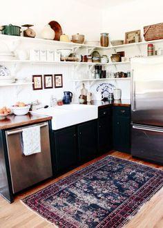 Rug in the kitchen/ Un tapis dans ma cuisine : inspirations - Marie Claire Maison