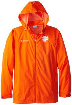 NCAA Clemson Tigers Collegiate Glennaker Lake Rain Jacket, Spark Orange, Large