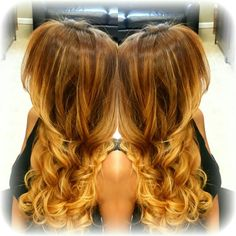 Golden blonde Ombre balayage
