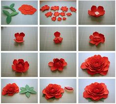 Bits of Paper: More 3D Paper Flowers!