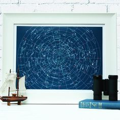 Star Map Fine Art Print Constellations Astronomy Poster Giclee Art PR001 | eBay