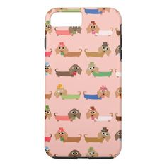 Dachshunds on Pink iPhone 8 Plus Case Dachshund Tattoo, Dachshund Quotes, Dachshund Gifts, Funny Dachshund, Mini Dachshund, Picasso Dachshund, Dapple Dachshund Puppy, Dachshund Puppies For Sale, Iphone 8 Plus