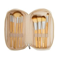 Bamboo Brush Set with Case https://www.pinterest.com/pin/483011128766508063/