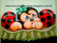 """Loucos por pintura - Aulas de pintura em tela e tecido: Videoaula """"Barrado Joaninha"""""""
