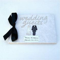 Wedding Guest Book Classic Monochrome £24.95