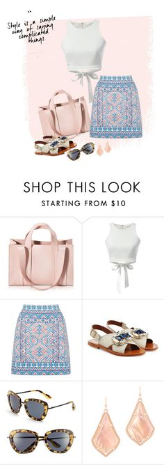 """""""Untitled #87"""" by blackparrott ❤ liked on Polyvore featuring Corto Moltedo, Oasis, Marni, Isaac Mizrahi, Kendra Scott, under50 and skirtunder50"""