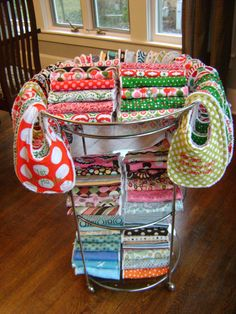 great bib/burp cloth display idea