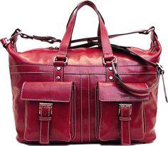 Floto Milano Travel Bag 4547 Italian Leather Duffle Tote Bag