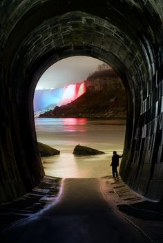 Taken inside Rankine Generating Station's century-old tailrace tunnel in Niagara Falls.