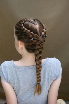 Lovely Heart-shaped Braids For You! - Fashion - Lovely Heart-shaped Braids For You! – Fashion Lovely Heart-shaped Braids For You! Box Braids Hairstyles, Try On Hairstyles, Kids Braided Hairstyles, Little Girl Hairstyles, Teenage Hairstyles, Fashion Hairstyles, Braids For Kids, Braids For Long Hair, Heart Braid