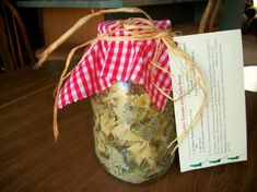 Jar Gifts Italian Tomato Pasta Soup