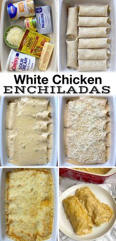 These oven baked chicken enchiladas are so quick and easy to make thanks to rotisserie chicken and a few other cheap ingredients like cream cheese, sour cream, taco seasoning, chicken broth, and diced green chiles. Great for busy weeknight meals to feed your picky family! Even my kids scarf this Mexican inspired meal down before I even get a chance to sit down. If you're looking for easy dinner recipes, add this chicken dish to your meal plan for the week. Dinner Recipes Easy Quick, Quick Easy Meals, Healthy Dinner Recipes, Easy Meals For Dinner, Yummy Dinner Ideas, Mexican Dinner Recipes, Wasy Dinner Ideas, Fall Dinner Recipes, Dinner Ideas For Family
