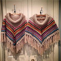 louloudeane crochet ponchos