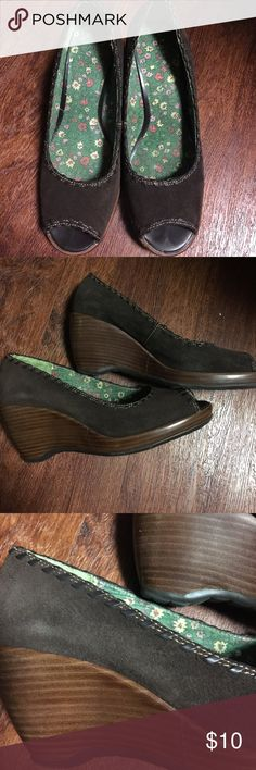 Rampage wedge shoes Rampage brown wedge shoes Rampage Shoes Wedges