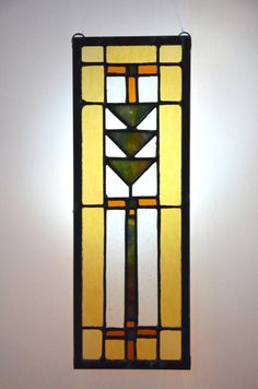 love this frank llyod wright inspired stained glass