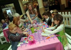 Children take part in a Tinker Bell and Pirate fairy tea party at Meadowhall.  Create some magic and bring out the fairies hidden in your community see http://fairytaleaccess.blogspot.com/  for ideas...