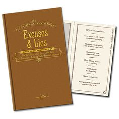 The book of Excuses and Lies for All Occasions