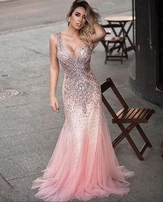 vestido de festa rosa baile de formatura ou vestido 15 anos
