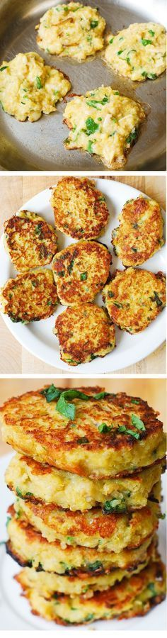 Spaghetti Squash, Quinoa and Parmesan Fritters – delicious, healthy snack that everybody in your family will love! (Gluten free, meatless, vegetarian recipe) // use GF flour alternative! Vegetable Recipes, Vegetarian Recipes, Cooking Recipes, Healthy Recipes, Vegetarian Appetizers, Vegetarian Cooking, Free Recipes, Alkaline Recipes, Alkaline Foods