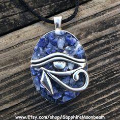 Egyptian Eye of Horus Handmade Jewelry by Sapphire Moonbeam