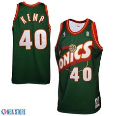 7b1a5b807 Seattle SuperSonics  40 Shawn Kemp Authentic Green Jersey Seattle Sounders