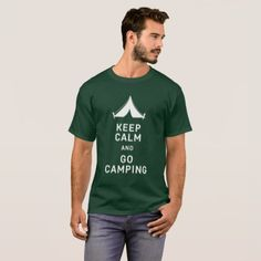 #Keep Calm and Go Camping Mens T Shirt - #Xmas #ChristmasEve Christmas Eve #Christmas #merry #xmas #family #holy #kids #gifts #holidays #Santa