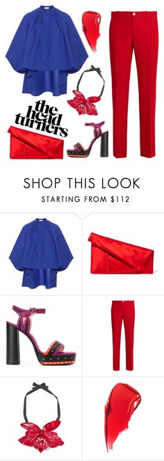 """BRIGHT, BOLD COLORS"" by erindream ❤ liked on Polyvore featuring Delpozo, Diane Von Furstenberg, Lanvin and Gucci"