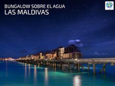 Quedarte en un bungalow sobre el agua en #Maldivas 😍